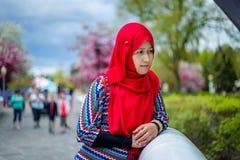 回教妇女在加拿大 免版税库存照片