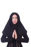 回教妇女祈祷 图库摄影