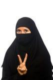 回教妇女被隔绝 免版税库存图片