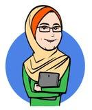 年轻回教妇女 免版税库存图片