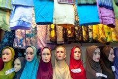 回教妇女headwear 免版税库存照片