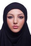 回教少妇佩带的hijab 免版税库存图片