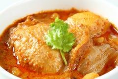 回教样式鸡和土豆咖喱 免版税库存照片