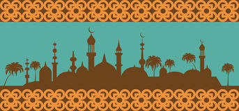 回教横幅 伊斯兰文化 库存照片