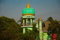 回教清真寺 在缅甸的Bago 缅甸 免版税库存照片
