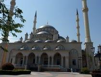 回教清真寺 城市Grozniy 资本是车臣 清真寺的看法从东部的 库存照片