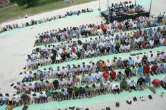 回教的照片信徒在祷告的 免版税库存照片