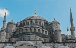 回教蓝色清真寺苏丹Ahmet Cami在伊斯坦布尔土耳其 库存图片