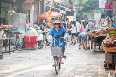 回教街道在羡,中国 图库摄影