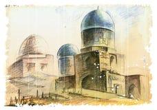 回教建筑学 库存图片