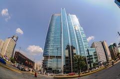回旋曲1摩天大楼在华沙 图库摄影