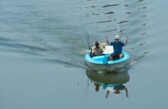 回来的渔夫 图库摄影