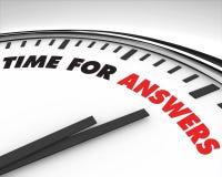 回答时钟时间 库存例证