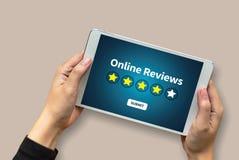 回顾检查评估的网上回顾评估时间 图库摄影