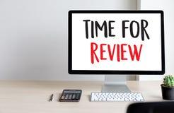 回顾检查评估的网上回顾评估时间 免版税图库摄影