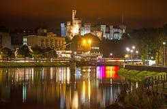 因弗内斯城堡在夜之前 免版税库存照片