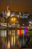 因弗内斯城堡在夜之前 库存图片