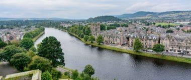 因弗内斯,苏格兰,英国从上面 库存照片