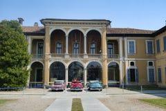 因扎戈米兰,伦巴第,意大利:别墅Facheris 免版税库存照片