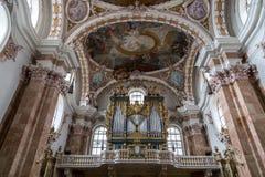 因斯布鲁克大教堂,奥地利 图库摄影