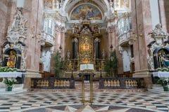 因斯布鲁克大教堂,奥地利 库存图片