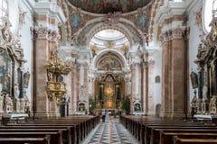 因斯布鲁克大教堂,奥地利 免版税库存图片