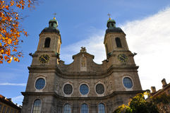 因斯布鲁克大教堂 免版税图库摄影