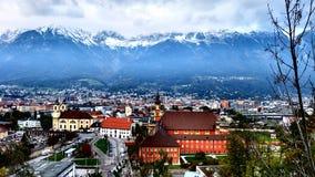 因斯布鲁克:阿尔卑斯的资本 免版税库存照片