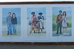 因此保护在南希尔兹、泰恩-威尔郡的壁画 免版税图库摄影