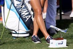 因此在阿那启发高尔夫球比赛的yeon ryu 2015年 免版税库存图片