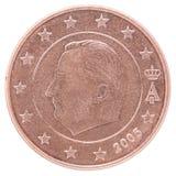 因此50分硬币dof欧洲放大微小计时得非常 库存图片