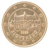 因此50分硬币dof欧洲放大微小计时得非常 库存照片