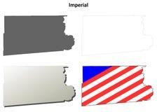 因皮里尔县,加利福尼亚概述地图集合 免版税库存图片