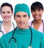 团结的医疗纵向小组 免版税库存照片
