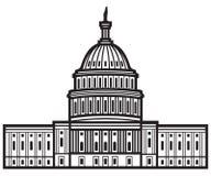 团结的国会大厦状态 库存例证