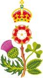 团结的徽章英国极大王国皇家 库存图片