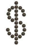 团结的美元的符号状态 免版税库存照片