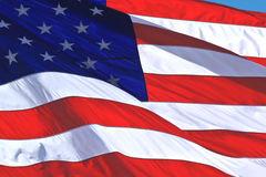 团结的美国国旗状态 免版税库存图片