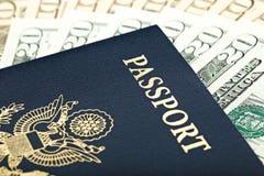团结的美国货币护照状态 库存照片