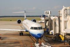 团结的航空公司 免版税库存照片