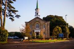 团结的被改革的教会在Longham,威尔士 库存图片