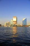 团结的阿拉伯大厦小河迪拜酋长管辖&# 免版税库存图片
