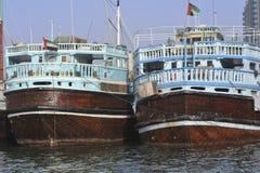 团结的阿拉伯小船迪拜酋长管辖区 免版税库存照片