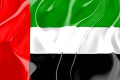 团结的阿拉伯酋长管辖区标志 库存例证