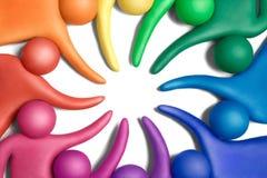 团结的11个颜色 库存照片
