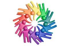 团结的13个颜色 免版税库存照片