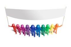 团结的14个颜色 免版税库存图片