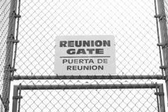 团聚门(普埃尔塔De Reunion) 库存照片