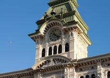 团结正方形在的里雅斯特,意大利 库存照片