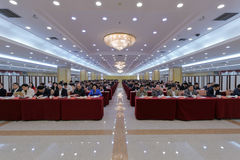 团结的前面工作会议的听审官 免版税库存照片